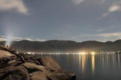 Mój miasto przy nocą Fotografia Stock