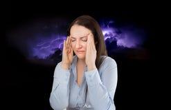 Mój migrena zadręcza ja Zdjęcie Royalty Free