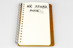 Mój opowieści książka na bielu Fotografia Royalty Free