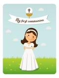 Mój pierwszy communion przypomnienie Fotografia Royalty Free