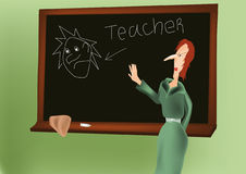 Mój pierwszy nauczyciel Obraz Royalty Free