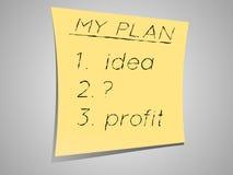 Mój plan obrazy stock