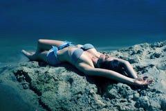 Mój podwodna wyspa Obrazy Royalty Free