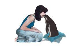 Mój przyjaciela pingwin Zdjęcia Royalty Free