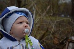 Mój słodki syn na spacerze Fotografia Stock