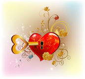 mój serce klucz Obraz Royalty Free