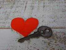 mój serce klucz Obraz Stock
