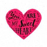 mój sympatia ty Walentynki ` s dnia karciany projekt Nowożytna typografia ilustracja wektor