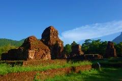 Mój syna sanktuarium, ruiny, Antyczne Hinduskie świątynie Cham kultura w Wietnam blisko miast Hoi i da nang i, Fotografia Royalty Free