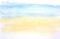 Mój sztuki pracy wodnego koloru farby uderzenie Zdjęcia Stock