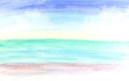 Mój sztuki pracy wodnego koloru farby uderzenie Zdjęcie Royalty Free