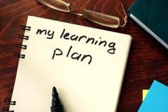 Mój uczenie plan Obraz Stock