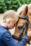Mój uroczy koń Fotografia Royalty Free