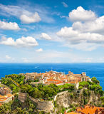 Mónaco con príncipes Palace Mar Mediterráneo Riviera francesa Imagenes de archivo