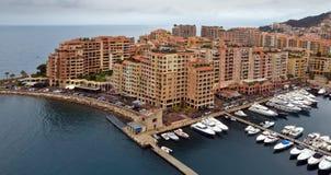 Mónaco - distrito de Fontvieille de la arquitectura Fotografía de archivo libre de regalías