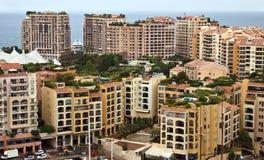 Mónaco - distrito de Fontvieille de la arquitectura Imagen de archivo
