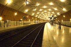 Mónaco - estación de tren Foto de archivo libre de regalías