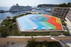 Mónaco, Monte Carlo, 29 05 2008: HexaGrace - Vasarely 1979 Imagenes de archivo