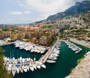 Mónaco port de fontvielle Fotos de archivo libres de regalías