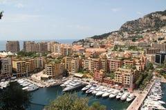 Mónaco, vista de la ciudad y del mar Fotos de archivo libres de regalías