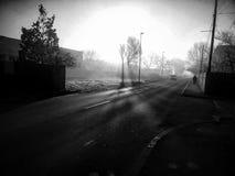 Móvil blanco y negro cogido Fotografía de archivo