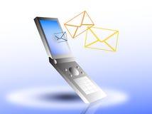 Móvil con el nuevo correo electrónico ilustración del vector