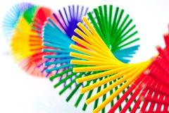 Móvil de bambú colorido Fotografía de archivo libre de regalías