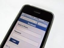 Móvil de Facebook foto de archivo libre de regalías