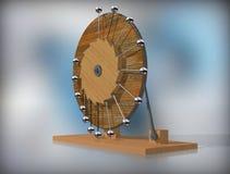Móvil de Perpetuum Máquina del movimiento perpetuo del ` s de Leonardo da Vinci fotos de archivo