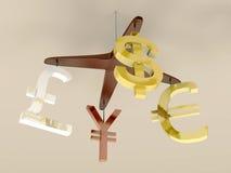 Móvil del dinero Fotografía de archivo