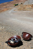 hełmów górnicy Fotografia Royalty Free