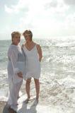 mów kobiety plażowych Obrazy Royalty Free