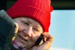 mów telefonu kobiety Obrazy Stock