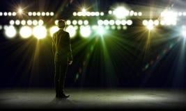 Mówca na scenie Zdjęcia Royalty Free