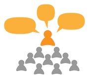 Mówca, nauczyciel lub słuchacze Zdjęcie Stock