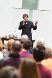 Mówca Opowiada przy Biznesową konferencją Zdjęcia Royalty Free