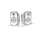 Mówcy, nakreślenie, wektor, ilustracja Obrazy Royalty Free