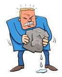 Mówić gniosący wodę od kamiennej humor kreskówki royalty ilustracja