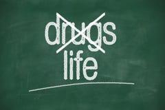 Mówić nie leki, wybiera życie, obrazy royalty free