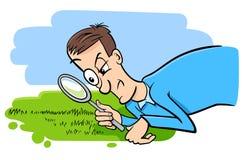 Mówić oglądający trawy r humor kreskówkę ilustracji