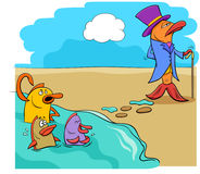 Mówić rybi z wodnej humor kreskówki royalty ilustracja