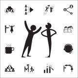 mówi dowcip ikonę Rozmowy i przyjaźni ikon ogólnoludzki ustawiający dla royalty ilustracja