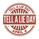 Mówi kłamstwo dnia znaczek ilustracja wektor