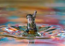 Mówi Mr wody kropla cześć fotografia stock