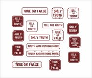 Mówi prawdę - znaczki Fotografia Royalty Free