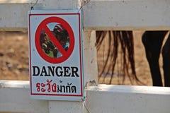 Mówi turysty jest ostrożny zdjęcie stock