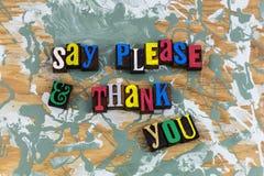 Mówi zadawala dziękuje ciebie dzięki zdjęcia royalty free