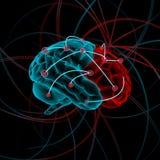 mózg bw koloru cztery ilustraci różnica ilustracji