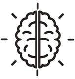 mózg, cranium kreskowa odosobniona wektorowa ikona może łatwo redagować i modyfikujący ilustracji