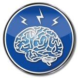 Mózg, migrena i migrena, ilustracja wektor
